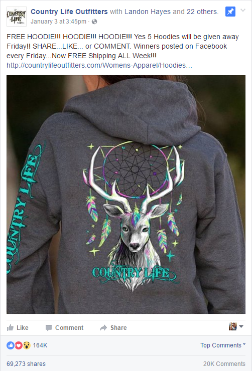 Country Life Outfitters Free Hoodie