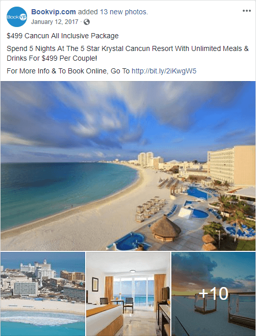 BookVIP Cancun Ad