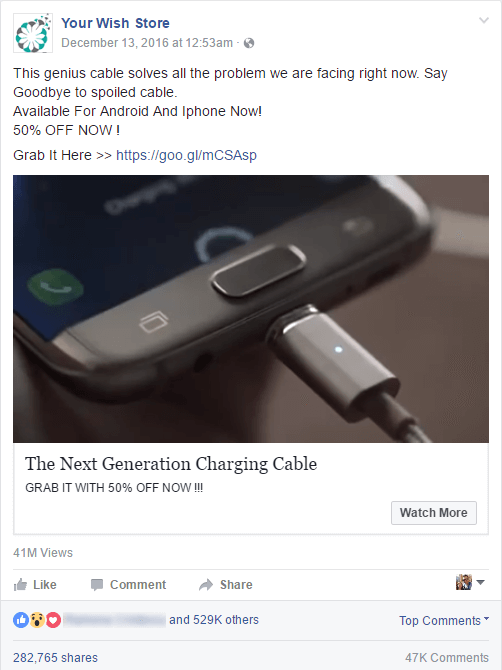 Magnetic Phone Charging Cable Ad